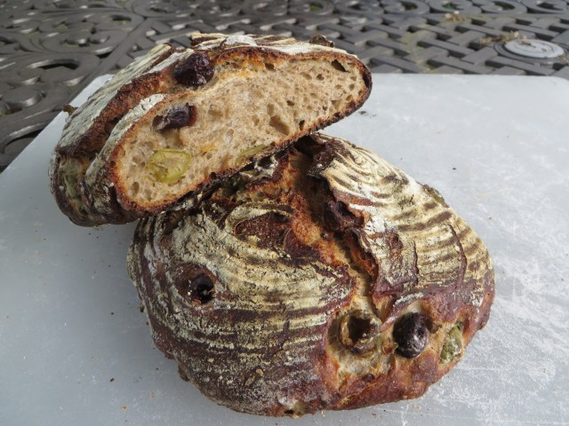Olive Bread with Sourdough Rye