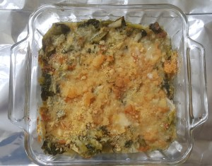 Utica Greens in 8-inch oven pan