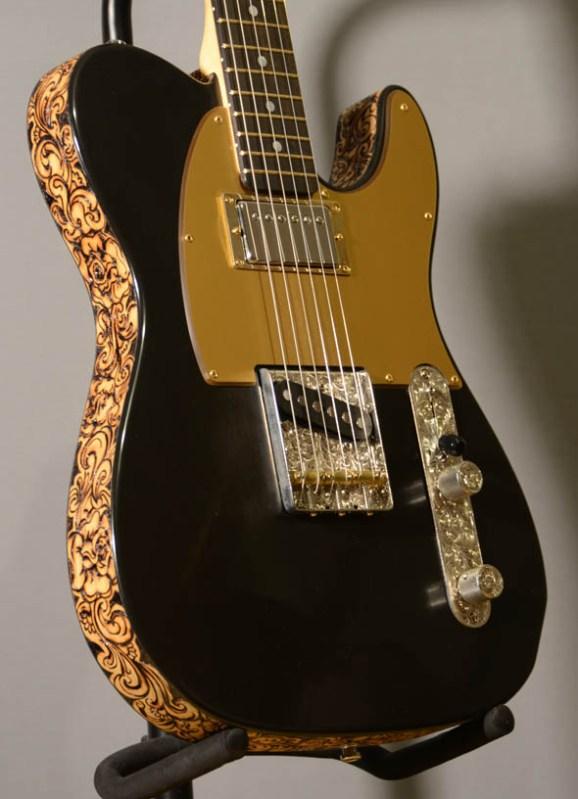 Black Jack Tele Guitar by BurnWizard