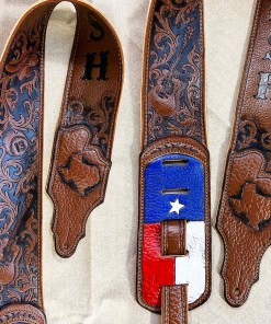 taxas.guitar.country.music.strap.cowboy.hat.burn.wizard.leather