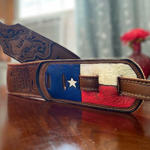 burnwizard texas country music guitar strap custom