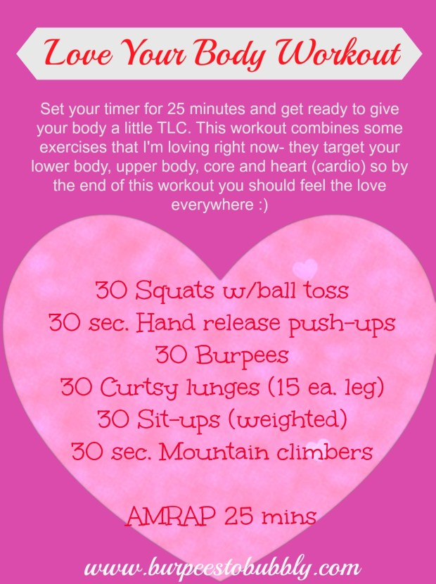 Wednesday Workout Valentines Day Edition The Love Your