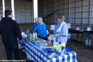 Lunch is served, Helen Cleland, Di day, Marj Wride & Peg Gebhardt