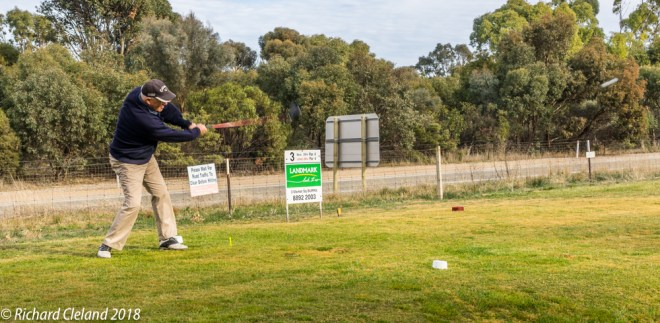 Andy Phillips lets one rip on the Road Hole