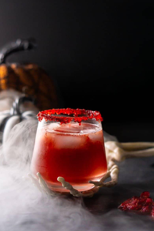Zombie Brains Halloween Cocktail - Burrata and Bubbles