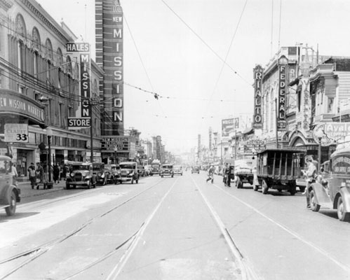 new mission and rialto 1933