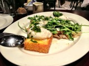 My second time having brunch at Park Tavern :: crispy polenta cakes with poached eggs & truffle things.
