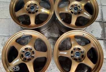 Forsale Velg Racing Second Spoon R16 kebar 7 Rata Pcd 4×100 Et 40