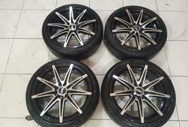 Velg Racing second KCCX R17x7,5 Hole. 8×100/114,3 et.42 warna:bmf
