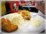 first meal in Malaysia: KFC tinolang kanin :P