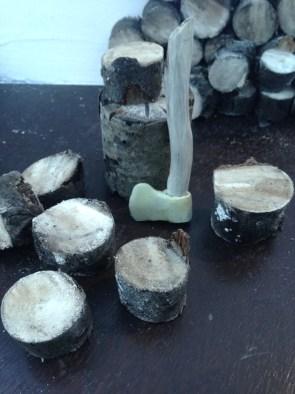 Axe & Pre Cut Logs
