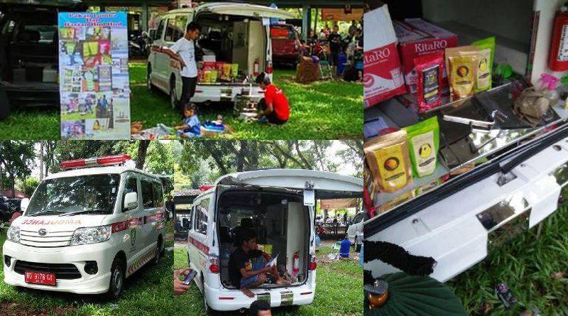 Mobil ambulans yang disalahgunakan untuk ikut lomba burung dan jualan pakan burung (redaksibengkulu.co.id)