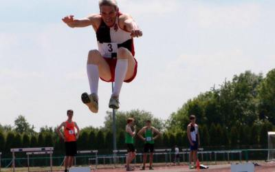 Roger Morley is National Masters Triple Jump Champion!