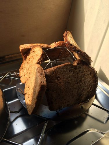 Toast im Wohnmobil