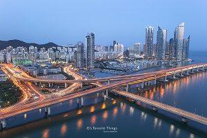 釜山プサン海雲台ヘウンデマリンシティ夜景