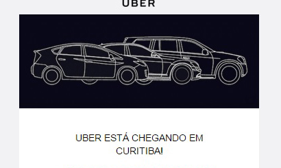 Finalmente o Uber chega a Curitiba