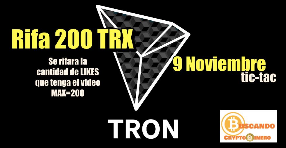 En este momento estás viendo Quiero regalar 200 TRX