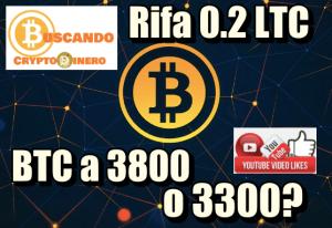 Lee más sobre el artículo Bitcoin a 3800 o 3300? Rifa de 0.2 LTC!