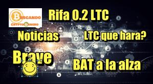 Lee más sobre el artículo Rifa 0.2 LTC + BAT a la alza +XRP a la expectativa + Noticias