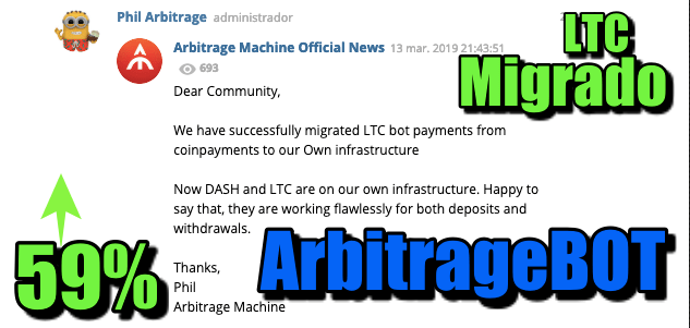 En este momento estás viendo ArbitrageBot 59% de ganancia LTC migrado ya de CoinPay