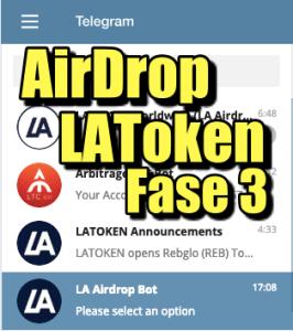 Lee más sobre el artículo AirDrop de LAToken Fase 3 (Telegram)