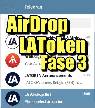 En este momento estás viendo AirDrop de LAToken Fase 3 (Telegram)