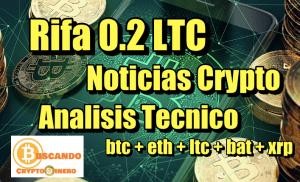 Lee más sobre el artículo Rifa 0.2 LTC + Noticias Crypto + Análisis Tecnico Bitcoin