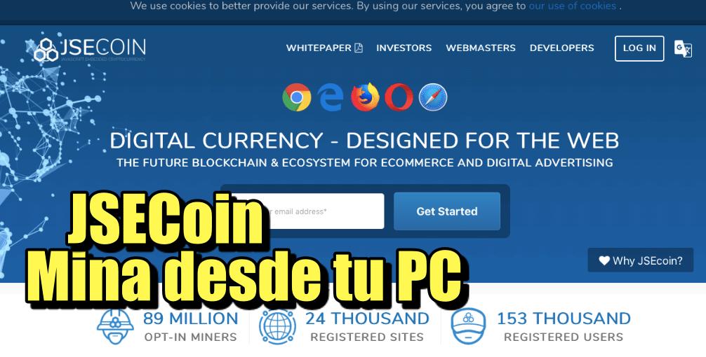 En este momento estás viendo JSECoin Mina desde tu PC esta crypto
