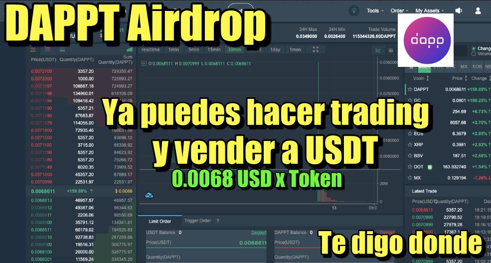 En este momento estás viendo DAPPT ya puedes hacer trading con tus tokens te digo donde