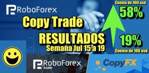 Lee más sobre el artículo CopyTrade en Robofofrex Resultados 58% y 19% (cuentas de 400 y 100 usd)