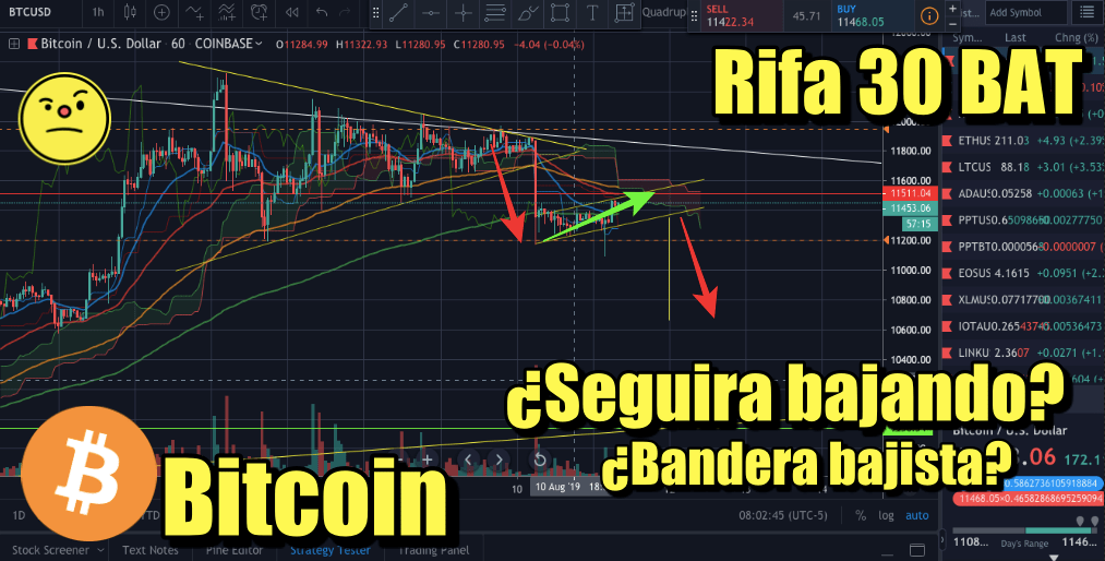 En este momento estás viendo Rifa 30 BAT + Noticias Crypto + BTC de bajada?
