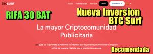 Lee más sobre el artículo BTC.Surf Gana Bitcoin por ver publicidad +Rifa de 30 BAT