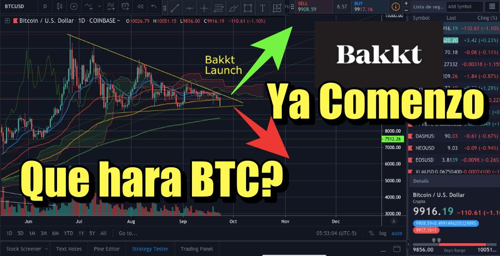 En este momento estás viendo Bakkt YA comenzo y fuerte movimiento de BTC muy proximo