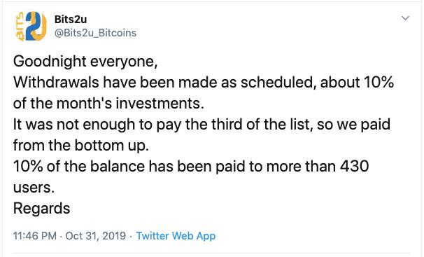 En este momento estás viendo Bits2U pago a 430 personas esta noche