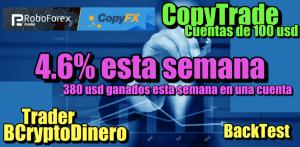 Lee más sobre el artículo CopyTrade 4.6% esta semana + resultados de copy de 4200 usd