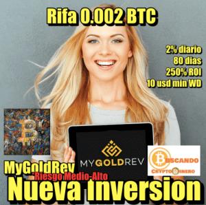 Lee más sobre el artículo My Gold REV **Nueva Inversion** + RIFA 0.002 BTC