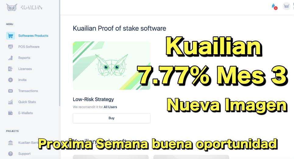 En este momento estás viendo Kuailian 7.77% Mes 3 y Proxima semana BUENA OPORTUNIDAD Nueva cara de Kuailian