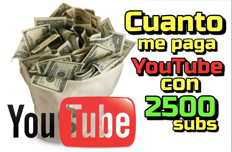 En este momento estás viendo Cuanto me paga Youtube con 2500 seguidores???  (mi experiencia)
