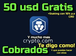 Lee más sobre el artículo Crypto com Ya desbloque los 50 usd y los use… te muestro como !!! Admeas de hacer staking (16% pa)