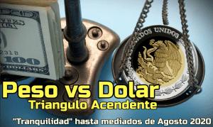 Lee más sobre el artículo Peso vs Dolar… Tranquilidad aparente hasta mediados de Agosto 2020 !!