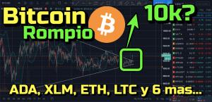 Lee más sobre el artículo Bitcoin rompio hacia arriba, target 10k??? Ademas otras 8 Altcoins !!!