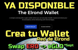 Lee más sobre el artículo ELROND Ya puedes crear la billetera en la Red Principal… Cambio de Tokens ERD a eGLD !!!