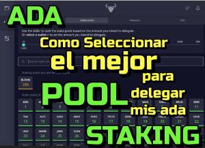 Lee más sobre el artículo Cardano ADA Como seleccionar un buen Stake Pool para delagar mis monedas??