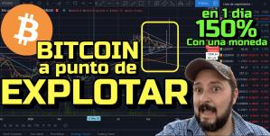 Lee más sobre el artículo Bitcoin a punto de Explotar !!! + Moneda con 150% en 1 dia + ETH, LTC, ADA, Link !