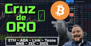 Lee más sobre el artículo Bitcoin haciendo nueva «CRUZ DE ORO»!!!! Gap, ETH, ADA, LINK, TEZOS, BNB, ZEC, IRIS !