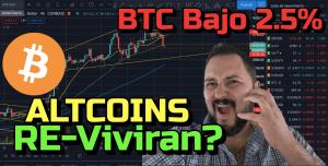 Lee más sobre el artículo Bitcoin bajo 2.5% y bajando….. Altcoins Re-Viviran?? +ETH, LTC, ADA, Link y Ocean !!