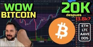 Lee más sobre el artículo Bitcoin a los 20k y después Dump a los 13 8k?? + ETH, LTC, AAVE y DOS Network !!!!