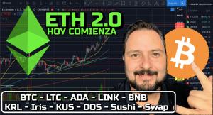 Lee más sobre el artículo ETH 2.0 comienza HOY + Volatilidad + BTC, LTC, ADA, LINK, BNB, KRL, Iris, KUS, DOS, Sushi y Swap !!!