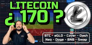 Lee más sobre el artículo Litecoin a los 170?? + BTC, eGLD, Cover, Dash, Neo, DOGE, BNB, Swap, Dolar !!
