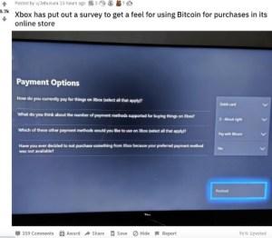 Lee más sobre el artículo Microsoft encuesta a los usuarios sobre el pago de Bitcoin para Xbox: Informes